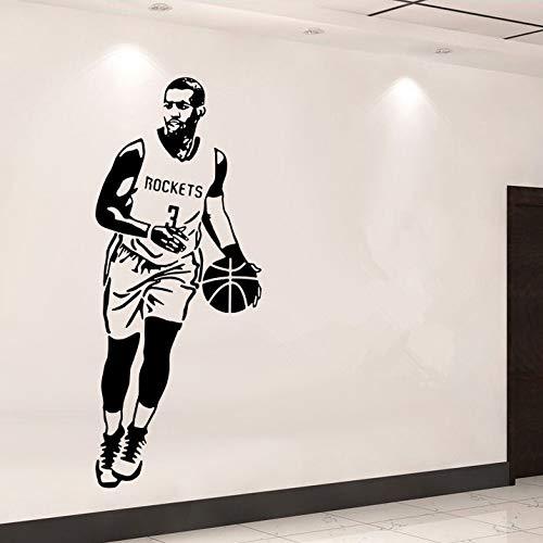 jiushizq DIY tapete Sport wandaufkleber Basketball Star Poster Aufkleber schlafsaal wohnkultur wandbild Kunst rot 150x60 cm