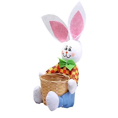 Skryo Süß Hase Ostern Korb Eier Süßigkeiten Geschenke Lager Rabbit Bag Party Dekoration (Blau)