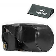 """MegaGear """"Ever Ready"""" - Funda Protectora de Cuero Negro para la Cámara Fujifilm X-A3, X-A2, X-A1, X-M1 con lente 16-50mm"""