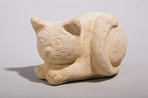 """Katze """"Lucy"""" - Handarbeit in Sandsteinoptik - 25 x 16 x 16 cm"""