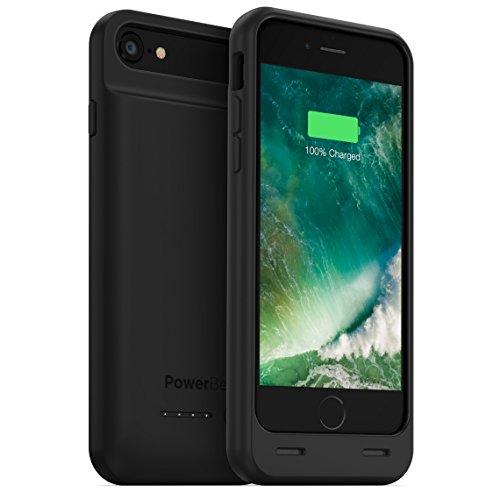 PowerBear Caso di Batteria iPhone 7 (MFI) [3100mAh] Pacco Batteria Ricaricabile Esterno de Alta Capacità (Fino al 160% de Batteria Supplementare) - NERO [24 Mesi Di Garanzia E Protezione Dello Schermo Incluso]
