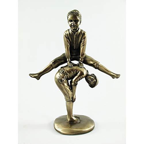 Gr Figur Spielende Kinder Jugendstil Deko Skulptur Statue massiv Bronze Farb. 22cm
