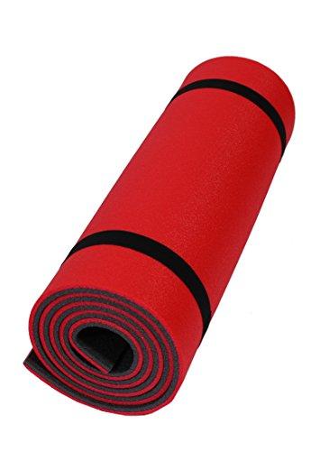 Sportmatte Rot Schwarz Yogamatte Pilatesmatte Fitnessmatte Aerobicmatte 180x50x1cm -