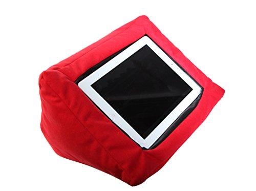 Preisvergleich Produktbild iPad-Kissen-Halterung, für alle Tablet-Geräte geeignet, Rot, ideal für die gemütliche Verwendung des iPads