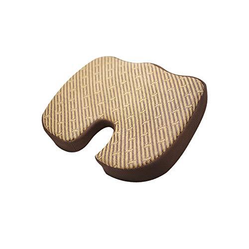 RZJ-gyt Kissen, Rattansitze, Kissen zur Linderung von Hämorrhoiden (Piles) und Steißbeinschmerzen, geeignet für Rollstuhl, Autositz, Heim oder Büro,Twill (Twill Kissen)