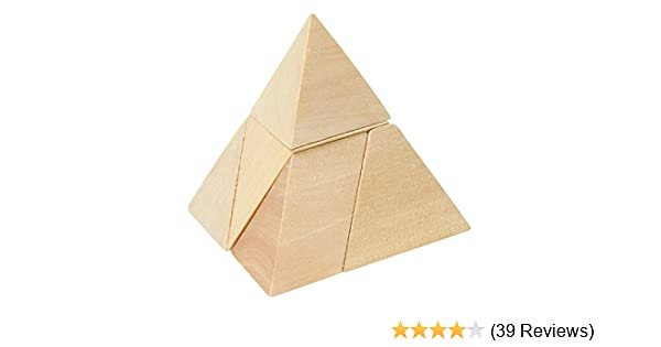 Goki HS108 Pyramid with 3 Sides, Puzzle