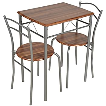 ts-ideen Set 3 pezzi Tavolo 60x60 cm con 2 sedie in Alluminio e ...