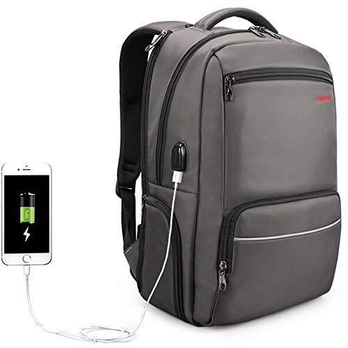 Herrenrucksack, wasserdichter Nylon-Diebstahlschutz für männliche Reisetasche, 15,6-Zoll-25L-Schultasche mit großer Kapazität, Kaffee
