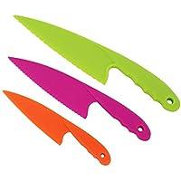 Cuchillos De Plástico, LYTIVAGEN 3Pcs Cuchillos Para Corta Verduras Seguro  Cuchillo Para Niños Cuchillos De