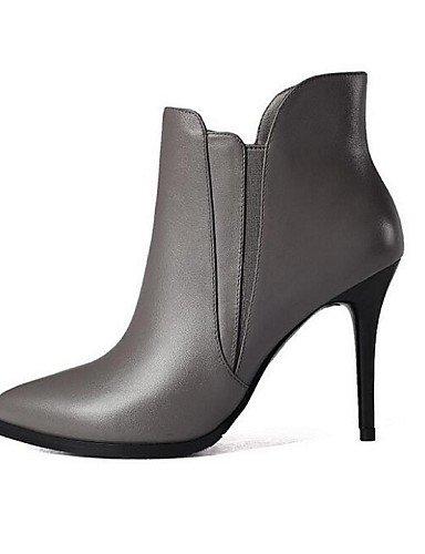 CU@EY Da donna-Stivaletti-Tempo libero-Stivali-A stiletto-Di pelle-Nero / Grigio black-us6.5-7 / eu37 / uk4.5-5 / cn37