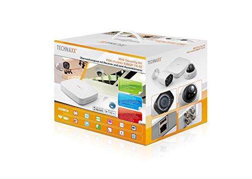 Technaxx-TX-51-Kit-de-videovigilancia-BulletDome-Almbrico-BNC-Interior-exterior-CMOS-IR
