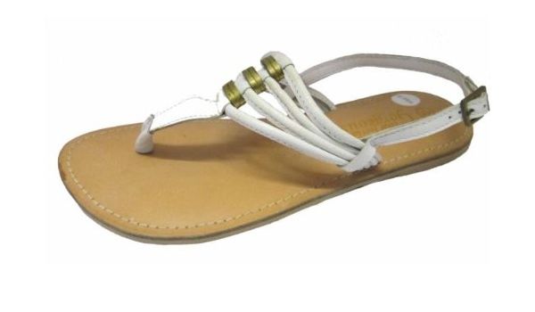 LEATHER Wide Fit Toe Post Sandals