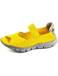Bernie Mev. BM3-070 - Bailarinas de Lona Para Mujer Amarillo Amarillo 37 EU