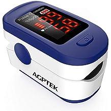 AGPTEK Oxímetro de Pulso, Pulsioxímetro de Dedo Digital con Pantalla LED, Lectura Instantánea,