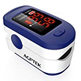 AGPTEK Fingertip Pulse Oximeter, Blood Oxygen Saturation Monitor SpO2 Sports and Aviation Monitor