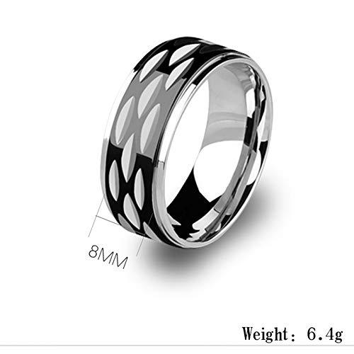 GMZDD Herrenringe Herrschende Persönlichkeit Mode Flut Männer Mann Stahlring Fingerring Schmuck Einzel EIN einzigartiger Ring kann Glück bringen schwarz 11