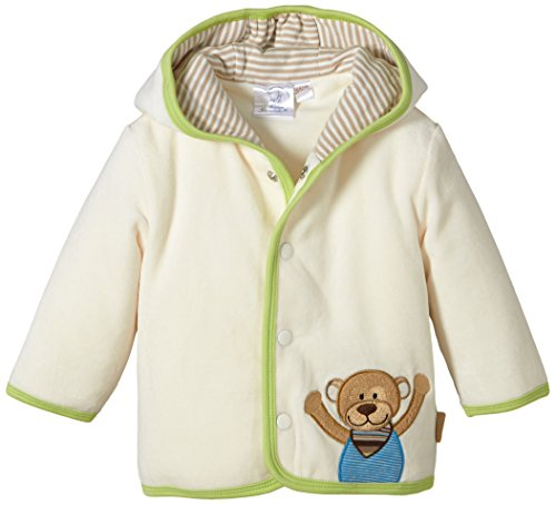Sterntaler Baby - Jungen Jacke Kapuzen- Nicki Anton, Gr. 56, Beige (ecru 903)