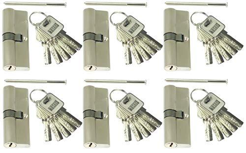 6 Profilzylinder 70 mm 35/35 Türschloss Zylinder 30 Schlüssel gleichschließend