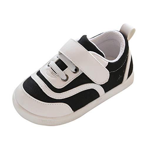Alwayswin Kleinkind Baby Kleinkindschuhe Jungen Mädchen Leinwand Schuhe Canvas Sneaker Mode Bequeme Bequeme Einfarbig Klettverschluss Einzelne Schuhe Lauflernschuhe Step Schuhe