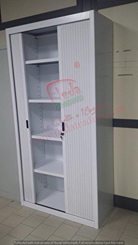 Armoire-Metallique--Portes--Rideaux-Blanc-100x45x200h