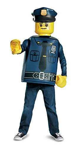 Lego Police Officer Classic Costume (Medium, 7-8 Years)