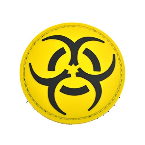 Giallo Biohazard Patch PVC Toppa
