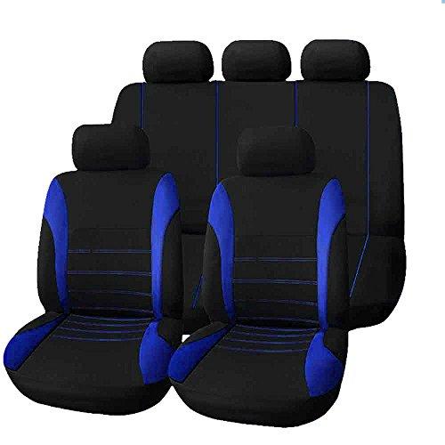 Set completo di coprisedili per auto macchina seat cover universali protezione per sedile di poliestere - set completo di 9