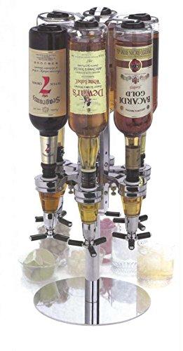 Kronenburg Bar Butler II - 6er Flaschenhalter mit Portionierer