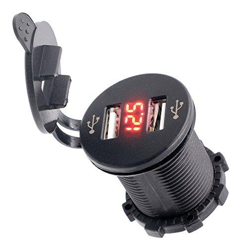 bluefire-2-usb-ladegerat-sockel-steckdose-21-a-21-a-mit-voltmeter-fur-ipad-iphone-kfz-boot-marine-mo