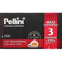Pellini Espresso Superiore N. 42, Tradizionale - Confezione da 3 x 250 gr