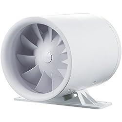 Blauberg UK Ducto 100100mm Standard Ducto en ligne Conduit Extracteur d'air monté-Blanc brillant