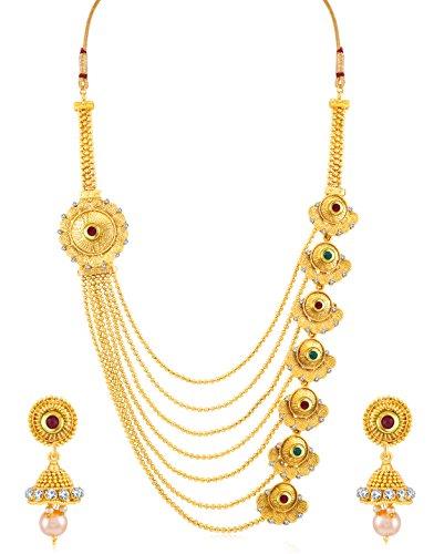 Sukkhi Jewellery Sets for Women (Golden) (N71928GLDPH092017)