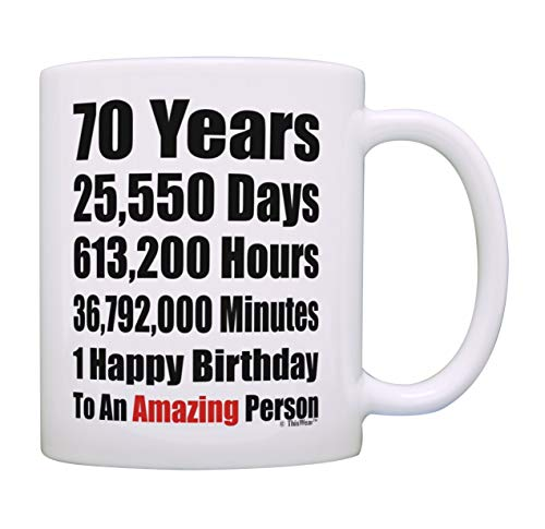 70th Birthday Mug 70 Years Happy Amazing Person Bday Mugs Gift 11 Oz Coffee