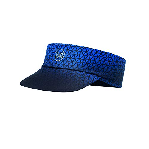 Buff Erwachsene Pack Patterned Run Visor, R-Equilateral Cape Blue, One Size
