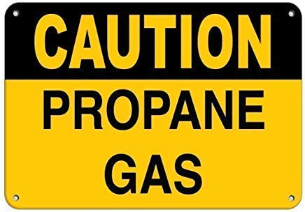 Tin Sign Fashion Vintage Caution Propane Gas Hazard Sign Flammable Post Plaue for Women Men Metal Aluminum Sign Wall Plaque for Indoor Outdoor 7.8x11.8 Inch - Propan-gas-pool