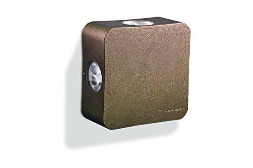 Newsbenessere.com 41QWCkDZ1nL HORIZON - PHASE - Applique a LED da esterno, in alluminio, emissione luminosa a 4 fasci, 24W 24Vdc, colorazione, temperatura di luce e fasci a scelta - 120x120x52 mm