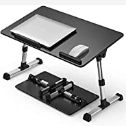 [Large Size23.6 x 13.4 inch ] Laptop Bed Tray Table, Adjustable Laptop Stand, Portable Lap Desks with Foldable