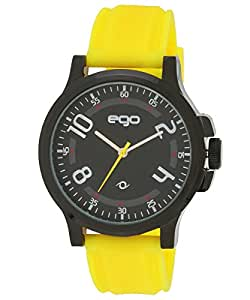 Ego by Maxima Analog Black Dial Men's Watch - E-01184PAGB