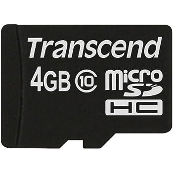 Transcend TS4GUSDC10 Memoria Flash 4 GB MicroSDHC Clase 10 - Tarjeta de Memoria (4 GB, MicroSDHC, Clase 10, Negro)