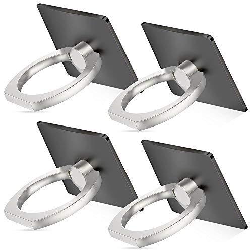 Senhai Handyhalter, 4-Pack Universal Smartphone Ring Grip Standplatz -Auto-Halterungen für iPhone, iPad, Samsung HTC Nokia Smartphones, Tablet (4 Schwarz)