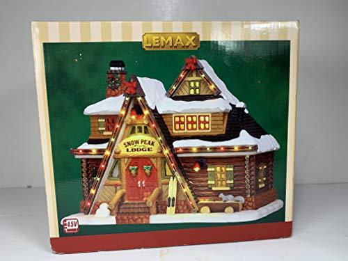 Lemax - Snow Peak Lodge - Bunt beleuchtete Hütte - 22,50cmx17,50cmx14,50cm - 4,5V / Adapter - Christmas Village - Weihnachtsdorf -