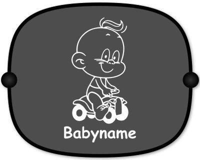Preisvergleich Produktbild Windel Winni Sonnenschutz Auto Baby Kinder Sonnenblende mit Wunschtext - Motiv WW3 (großer Aufdruck)