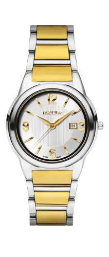 Roamer Swiss Elegance Women's Quartz Watch with Silver Dial Analogue Display and Gold Stainless Steel Bracelet 507844 48 15 50