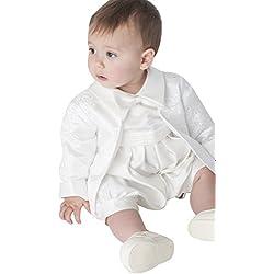 Lucas bautizo Romper en marfil blanco Marfil 12 - 18 meses