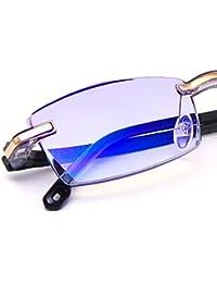 17f27eee878313 TERAISE Lunettes de lecture sans monture Design de coupe de diamant Mode  Anti-Fatigue Lentilles