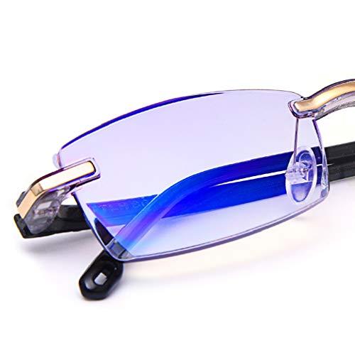 1fdbf2b111 TERAISE Gafas de lectura sin montura Moda Corte de diamante Diseño  antifatiga Lente transparente Lectores de