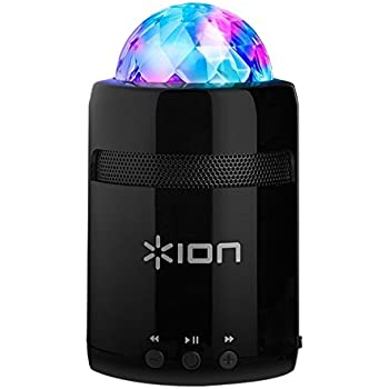 ION Audio Party Starter MKII / Enceinte Bluetooth Sans Fil Ultra Portable avec Eclairage LED Disco et Batterie Rechargeable
