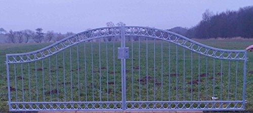 Gartentor Hoftor Tor Metall Eisen Anello-GT300/30S Schloss Feuer Verzinkt