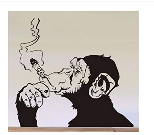 Zxfcczxf Schimpansen-Rauchergeneration Von Europäischen Und Amerikanischen Gerüchten Wandaufklebern Englischer Brauch 50 * 60Cm