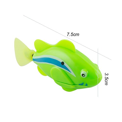 Scenstar Robo-Fisch Clownfisch Lebensechte Bewegungen, Auf- und Abtauchen | Wasserspaß für Kinder | elektronisches Wasser-Spielzeug Deep Sea Wimplefish, elektronisches Haustier bunt - 6